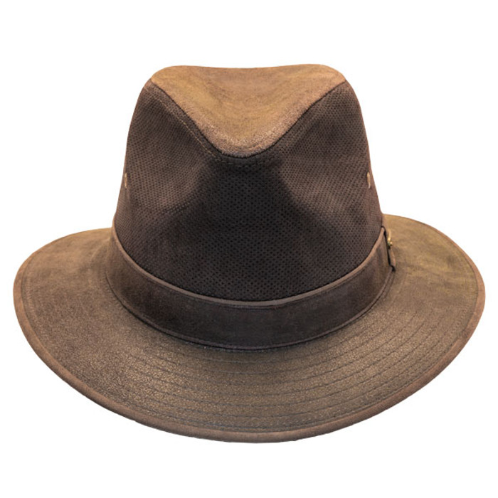 3b186bbc Stetson | Tullamore Distressed Leather Safari Hat | Hats Unlimited