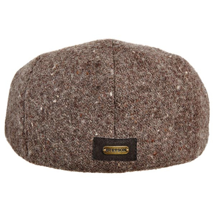 81cf3d0983871 Stetson - Authentic Italian Wool Ivy Cap in Brown - Back View