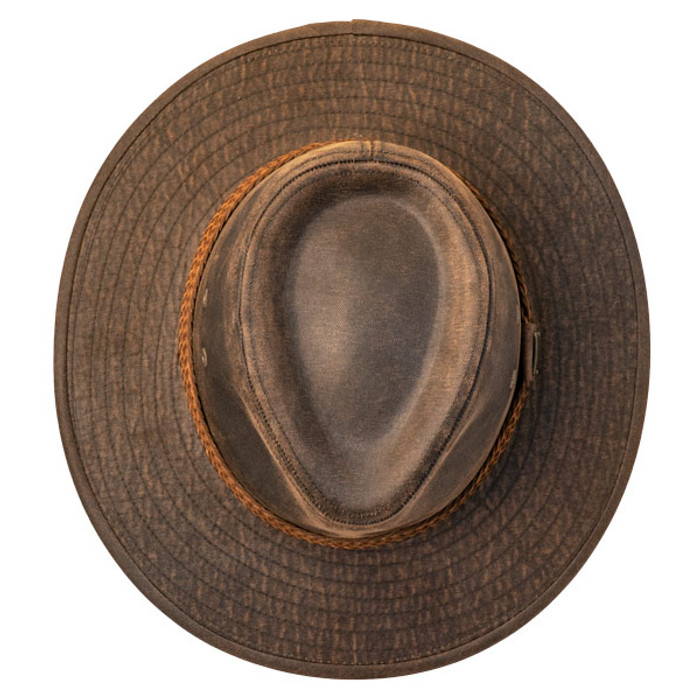 a3b709ac91e0f Stetson - Distressed Outdoor Boonie Hat - top