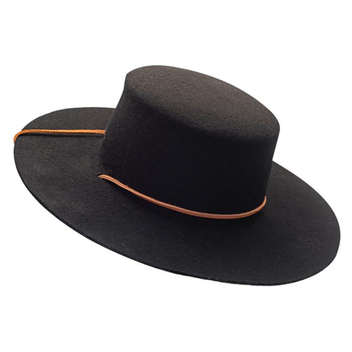 02528a6411aea Jeanne Simmons - Wool Felt Bolero Hat w  Chin Chord - Opposite Side
