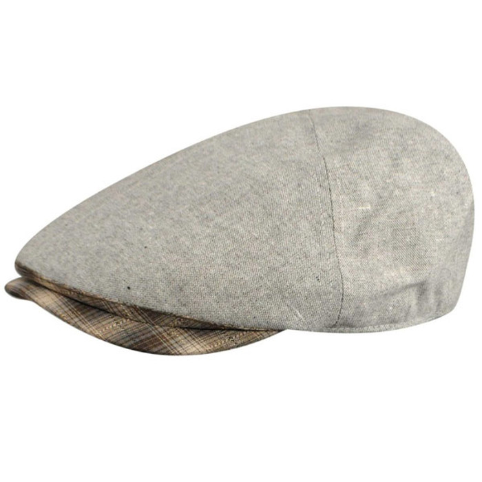 Country Gentleman Roman Ivy Flat Cap in Light Grey 87785f6d91f