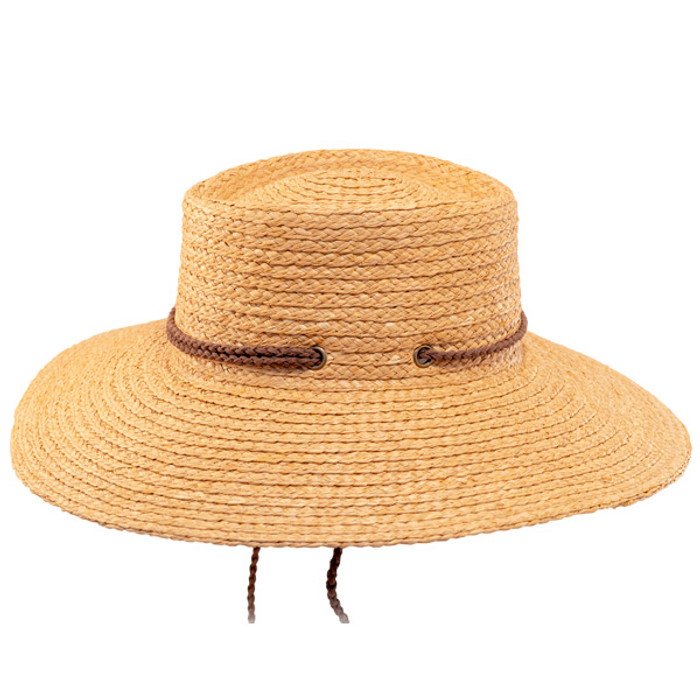 1c07b66fc0a Scala- Braided Raffia Aussie Boater Sun Hat - Side