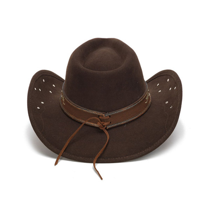 83f3849c92e Stampede Hats - Filigree Brown Rhinestone Felt Cowboy Hat - Back