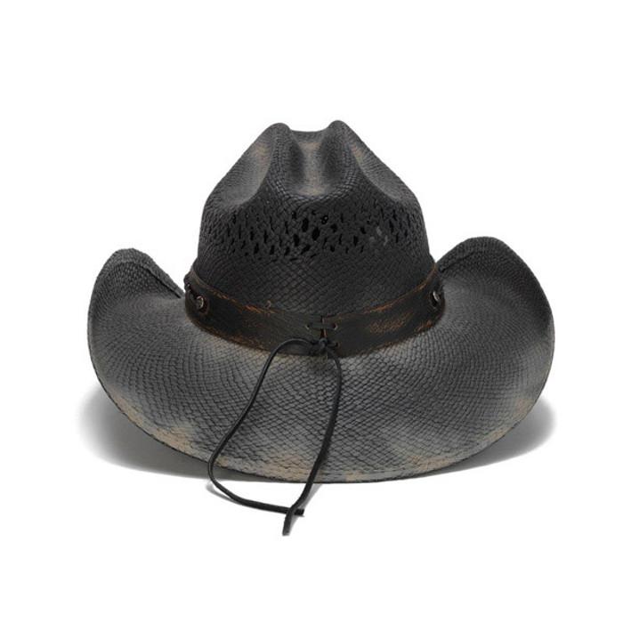 Stampede Hats - Black Longhorn Cowboy Hat - Back 1ba6af3b649