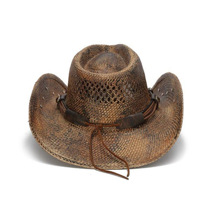fd9f2cbeb43 Stampede Hats - Flowers and Rhinestone Brown Cowboy Hat - Back
