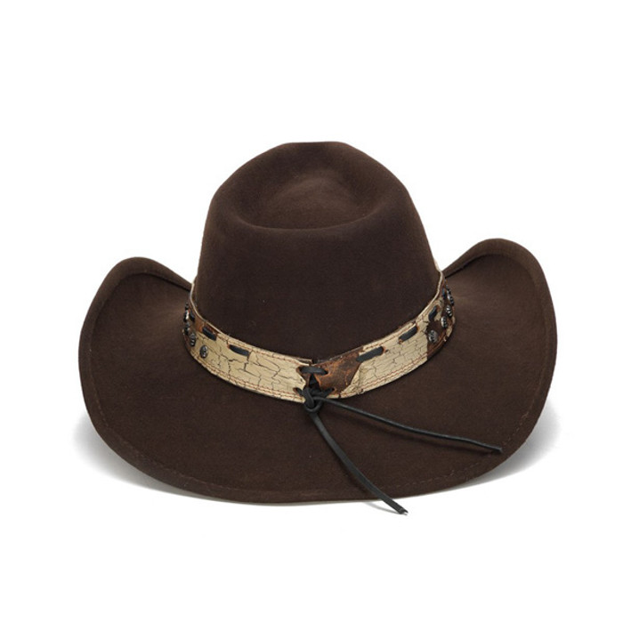 Stampede Hats - Brown Cowboy Concho Western Felt Hat - Back 1ae4083949d
