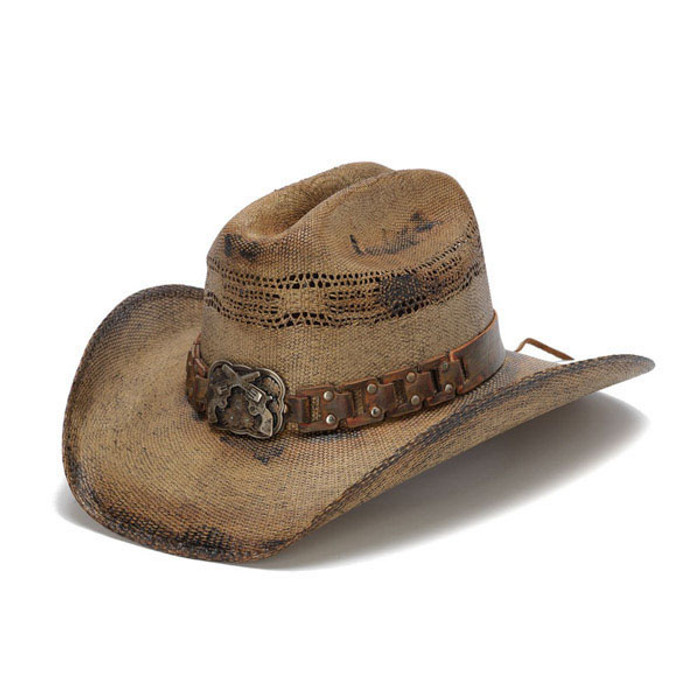 Stampede Hats - WANTED Cowboy Hat - Front Angle 393ca240bec
