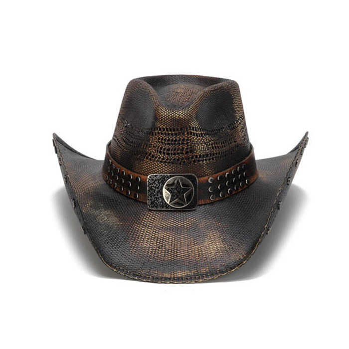 a229405f Stampede Hats - Studded Black Stain Lone Star Western Hat