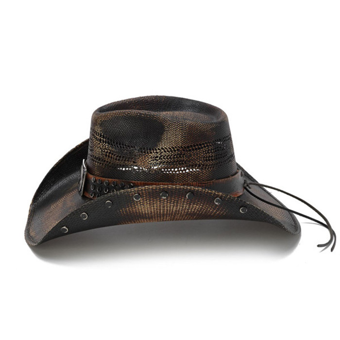 Stampede Hats - Studded Black Stain Lone Star Western Hat - Side 0620a3cd187