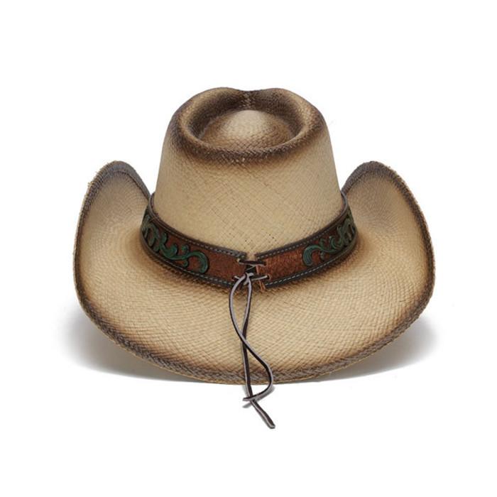 4731e0498ceeeb Stampede Hats | Mizzie Turquoise Gem Leaf Print Western Hat | Hats ...