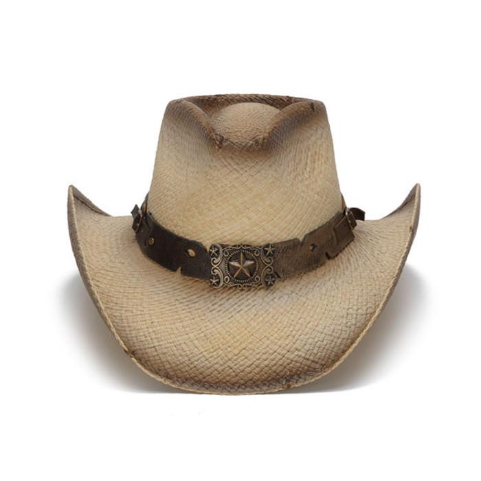 84c3643700875 Stampede Hats - Antique Lone Star Distressed Cowboy Hat - Front