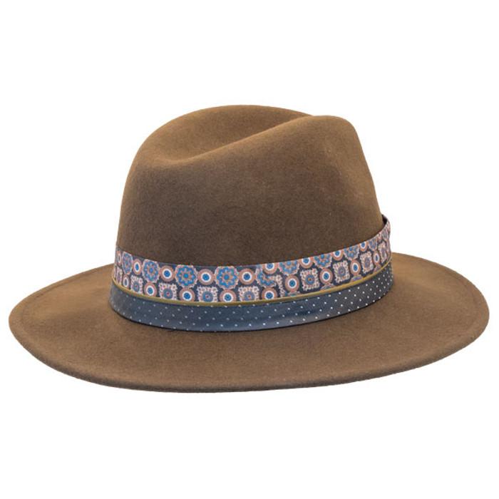 f284b530eacf8 Jeanne Simmons - Wool Felt Fashion Fedora w  Feather - Brown - Back