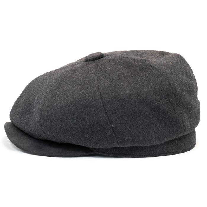 Henschel - Wool Blend 8 Panel Newsboy Cap in Black - Side 79893a92a9ed