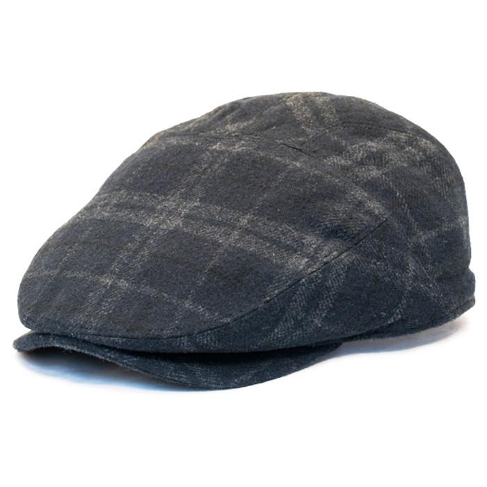 Henschel - Wool Blend Flat Cap with Ear Flaps in Black - Full ea79789fe49a