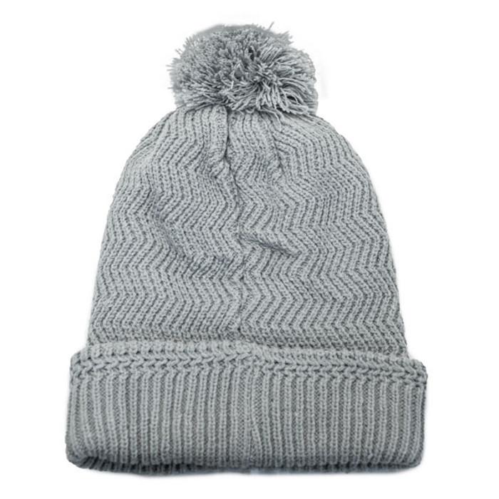 336fcdedb No Bad Ideas - Redford Beanie Puff Ball Hat w/ Leather Patch