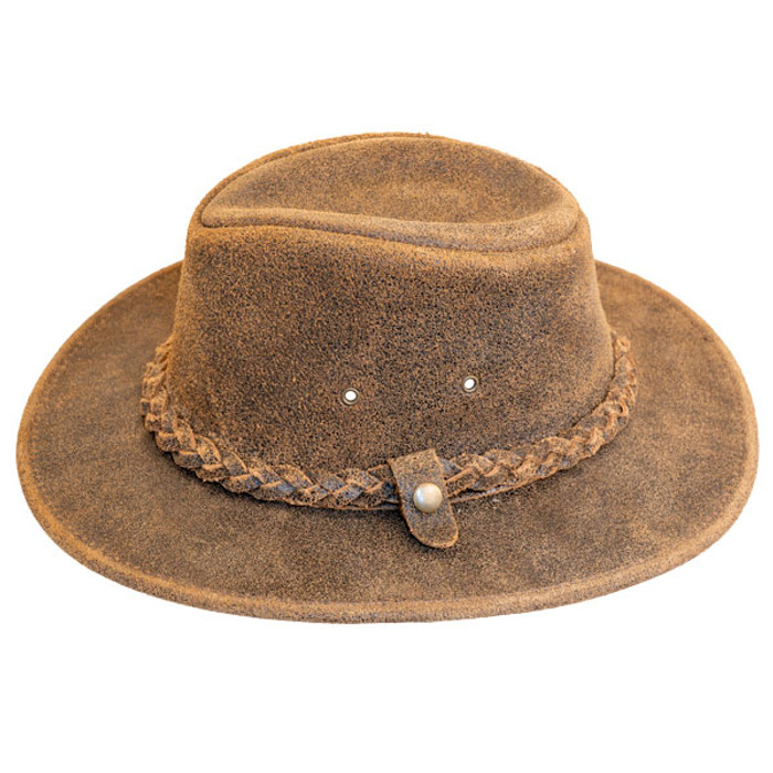 f1f19e99046 Henschel Outback Leather Hat - Side
