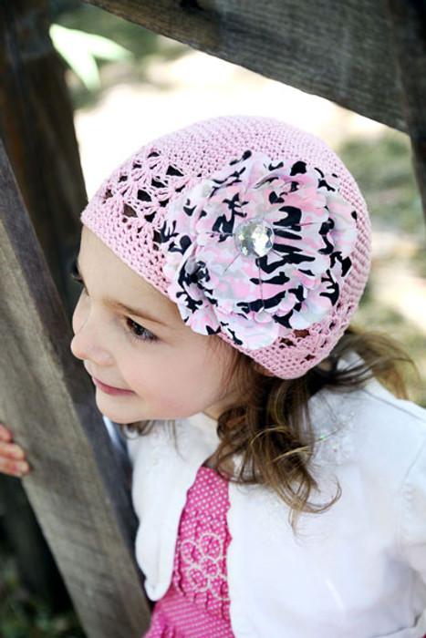 be298ba9c68 Baby Bezak - Pink Cap With Pink-Camo Flower