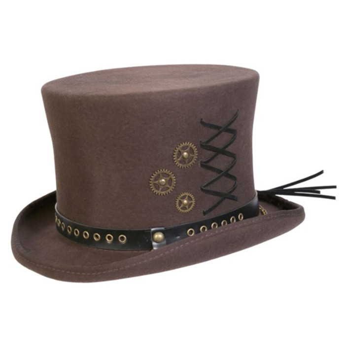 8866f66650748f Conner | Steam Punk Top Hat | Hats Unlimited