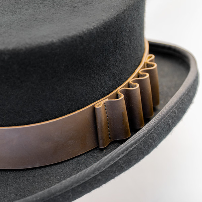 b8fb282742e5a Conner - Low Crown Steam Punk Top Hat in Black - Accessory Close-Up