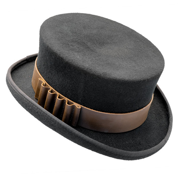 3eb2d88d75b82 Conner - Low Crown Steam Punk Top Hat in Black - Opposite Side