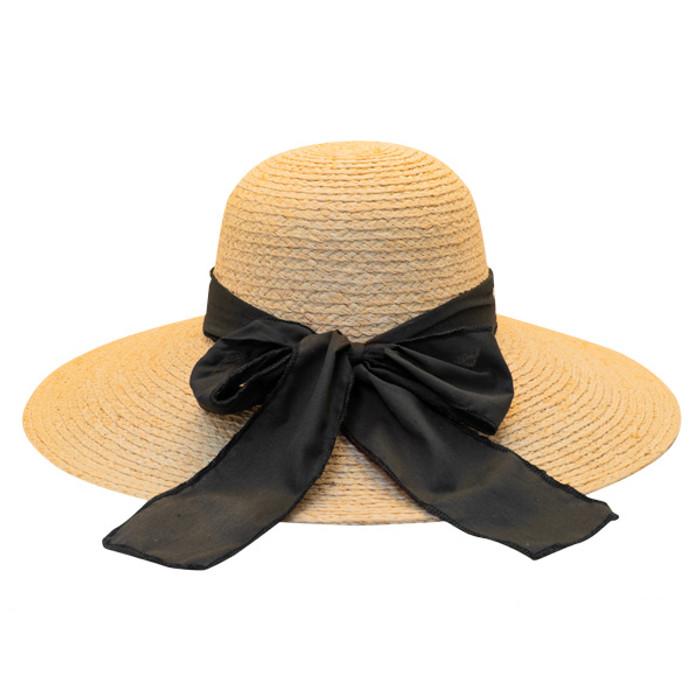 7ff08a68 California Hat Company - Big Brim Raffia Hat in Natural - Back