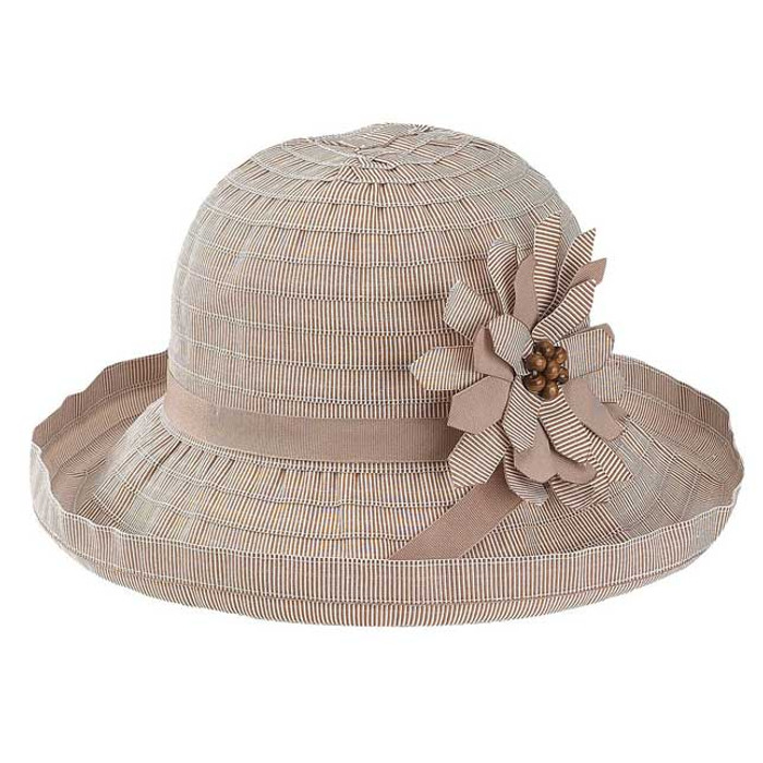 e4264c54b80 Jeanne Simmons - Brown Ribbon Upbrim Hat