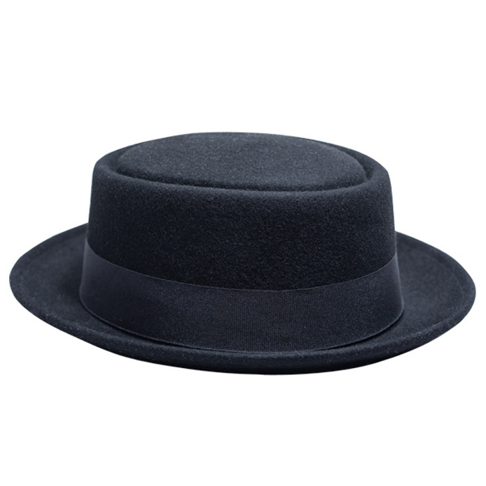 3097e4ff5 Kenny K - Heisenberg Black Wool Felt Pork Pie Hat