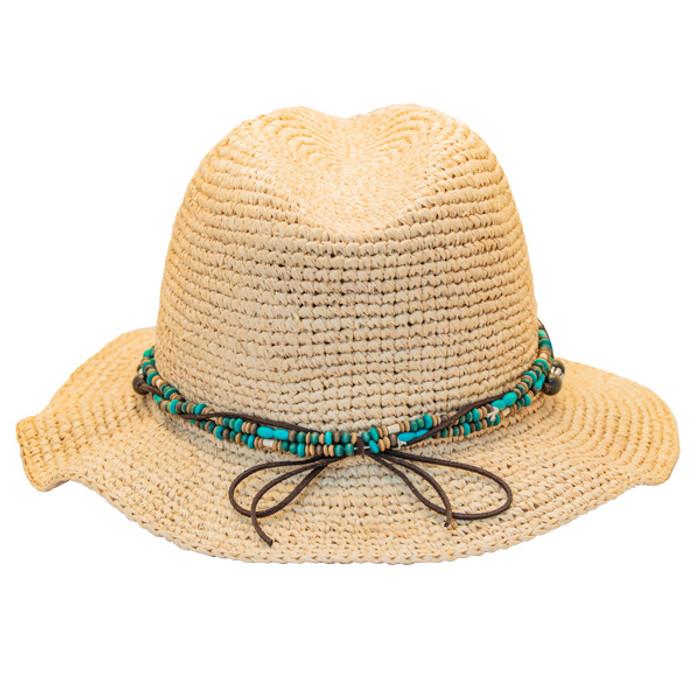 82d836275 Kooringal - Bora Bora Straw Fedora Hat