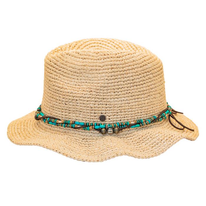 8b15b6c29f425 Kooringal - Bora Bora Straw Fedora Hat - Side