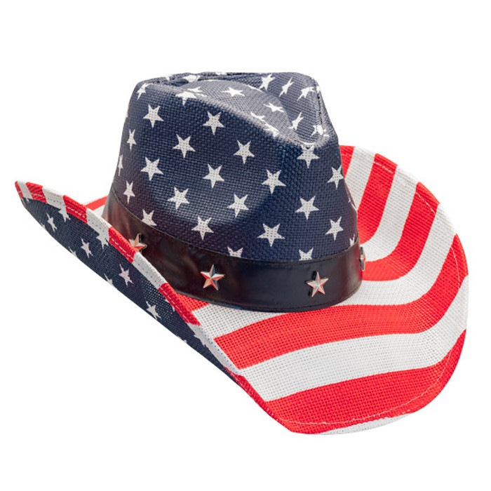 d4f99ac88cb77 California Hat Company - American Flag Cowboy Hat - Opposite Side