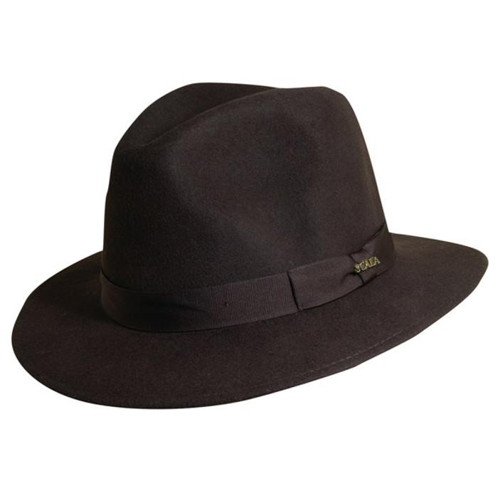 Scala - Chocolate Crushable Wool Felt Safari Hat ecd21630dd5