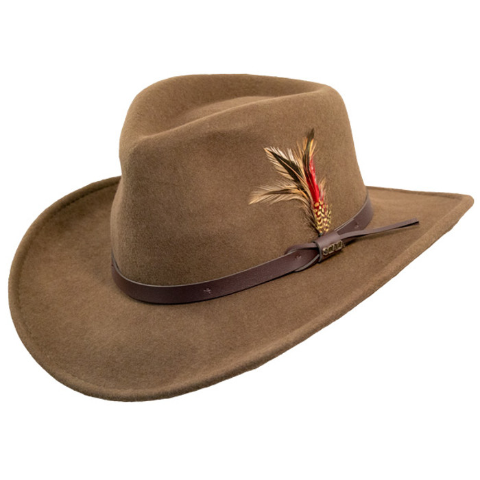 7ae4a176 Scala | Crushable Wool Felt Outback Hat | Hats Unlimited