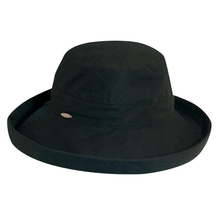 Scala - Small Brim Black Canvas Bucket Hat 20297972077