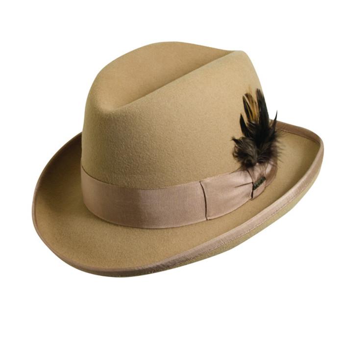 633f1fd7aeaa74 Scala | Homburg Wool Felt Godfather Hat | Hats Unlimited