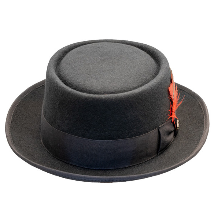 9a8b731a Scala | Porkpie Jazz Wool Felt Hat | Hats Unlimited