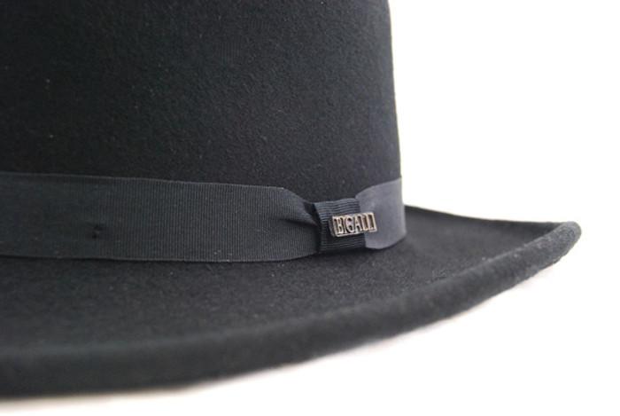 7b5afc1d82dd0 Bigalli - Dixie Felt Gambler Hat - Pin Detail