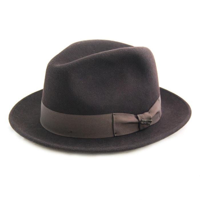 Bigalli - Brown Milano Wool Felt Hat 3bbafbe5d772