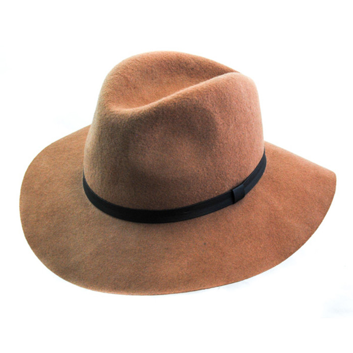 7c77d1edf12f Jeanne Simmons - Wool Felt Floppy Fedora Hat