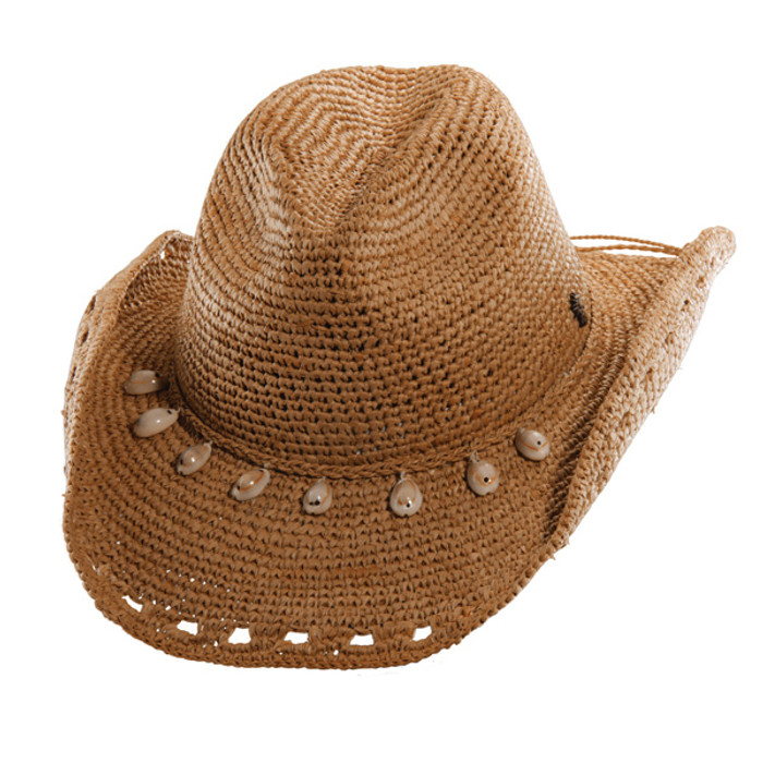 d17feded6 Tommy Bahama - Crocheted Raffia Cowboy Hat