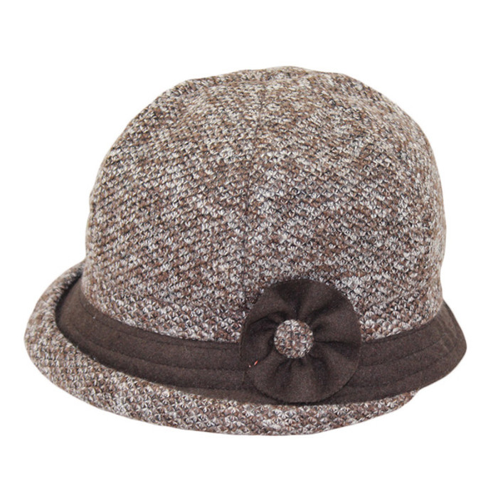 b95a5c55cd0560 Jeanne Simmons | Rolled Brim Cloche Hat With Trim | Hats Unlimited
