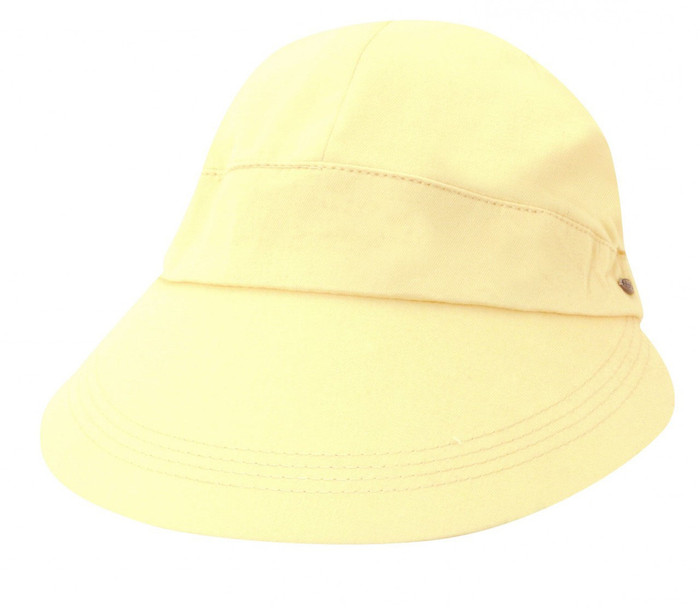 Scala - Cotton Facesaver Visor Hat Light Yellow ebb64d75e26