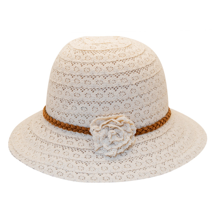 02afe46d01612a Jeanne Simmons - Poly-Cotton Lace Cloche Hat - Side