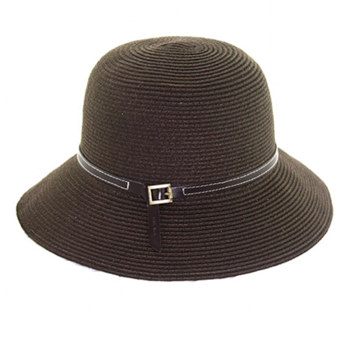 4b307a21d California Hat Company - Ladies Cloche with Leather Band