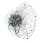 Something Special - Grey Ribbon and Lace Fascinator Hair Band Hat