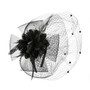 Something Special - Black Ribbon and Lace Fascinator Hair Band Hat