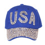 Something Special - Blue USA Bedazzle Jewel Cap