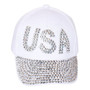 Something Special - White USA Bedazzle Jewel Cap