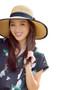 Boardwalk Style - Fine Crochet Raffia Resort Hat Model