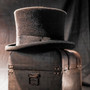 Conner - Edward Wool Felt Black Top Hat - Stock Image 1