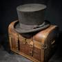 Conner - Edward Wool Felt Black Top Hat - Stock Image 2